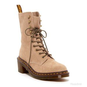 Dr. Martens Casey Suede 6-Eye 4-Tie Boot US 9